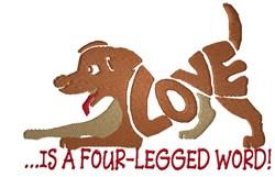 Four-Legged Word embroidery design