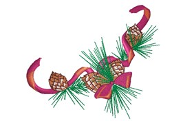 Holiday Pine Cones embroidery design