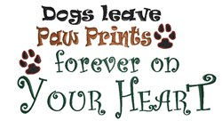 Dogs Leave Prints embroidery design
