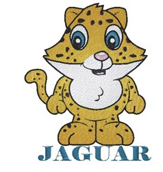 Jaguar embroidery design