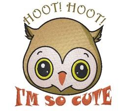 Hoot Im So Cute embroidery design