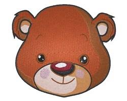 Teddy Face embroidery design