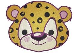 Leopard Face embroidery design
