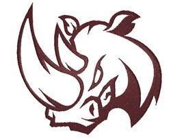 Rhino Head embroidery design