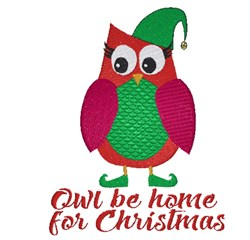 Be Home For Christmas embroidery design