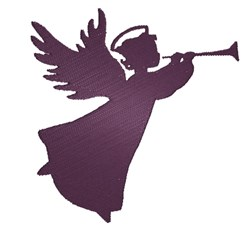 Christmas Angel Silhouette embroidery design