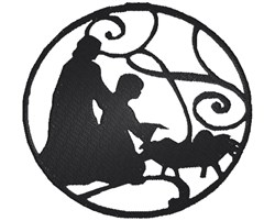 Nativity Scene Silhouette embroidery design