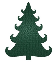 Curly Christmas Tree Silhouette embroidery design