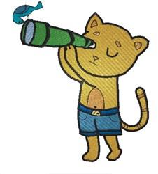 Kitten Explorer embroidery design