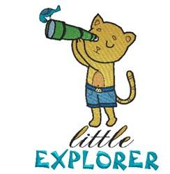 Little Kitten Explorer embroidery design