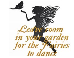 Leave Room in Your Garden embroidery design