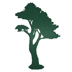 Tree Silhouette embroidery design