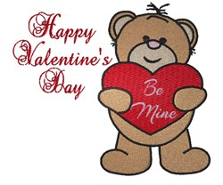 Valentines Day Teddy Bear embroidery design