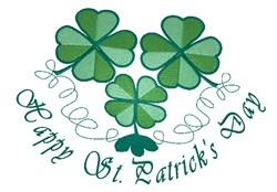 St. Patricks Day Clovers embroidery design