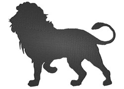 Lion silhouette embroidery design