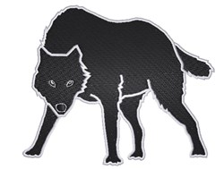 Black Wolf embroidery design