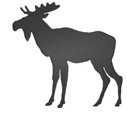 Moose silhouette embroidery design