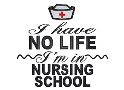 Nursing school embroidery design
