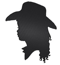 Cowgirl silhouette embroidery design