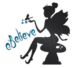 Believe Fairy embroidery design