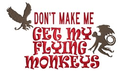 Flying Monkeys embroidery design