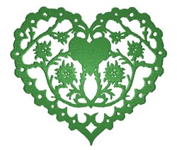 Edelweiss Heart embroidery design