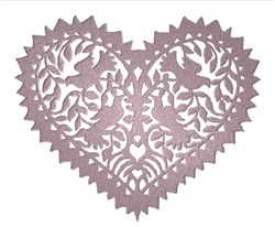 Dove Heart embroidery design