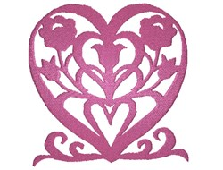 Silhouette Heart embroidery design
