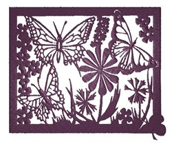 Silhouette Butterflies embroidery design
