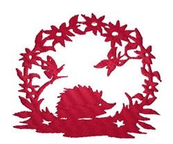 Hedgehog Silhouette embroidery design