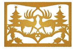 Christmas Deer embroidery design