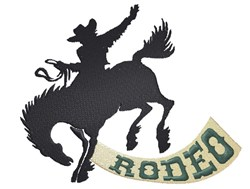 Rodeo Cowboy Silhouette embroidery design