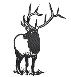 Elk Silhouette embroidery design