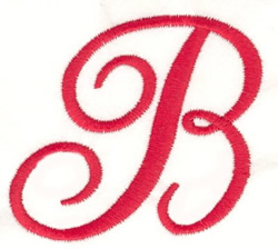 Fancy Monogram B embroidery design