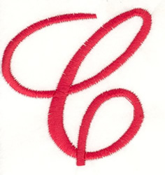 Fancy Monogram C embroidery design
