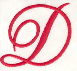 Fancy Monogram D embroidery design
