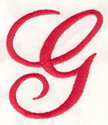 Fancy Monogram G embroidery design