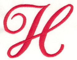 Fancy Monogram H embroidery design