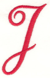 Fancy Monogram J embroidery design