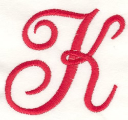 Fancy Monogram K embroidery design