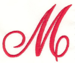 Fancy Monogram M embroidery design