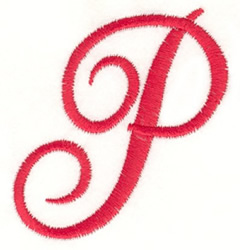 Fancy Monogram P embroidery design