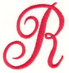 Fancy Monogram R embroidery design