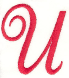 Fancy Monogram U embroidery design