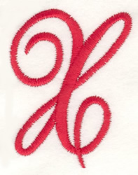 Fancy Monogram X embroidery design