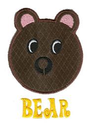 Bear Applique embroidery design