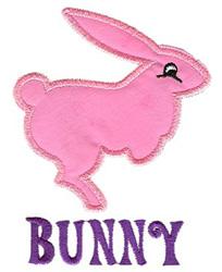 Bunny Applique embroidery design