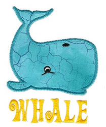 Whale Applique embroidery design