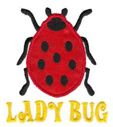 Lady Bug Applique embroidery design