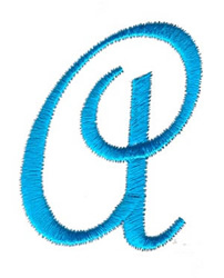 Classic Monogram Letter A embroidery design